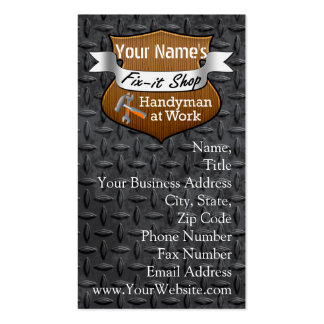 Personalized Handyman Fix-It Custom Name Business Cards