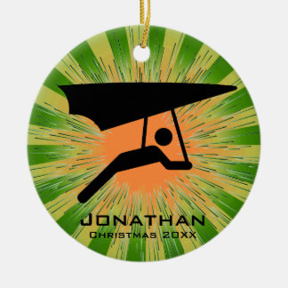 Personalized Hang Gliding Ornament