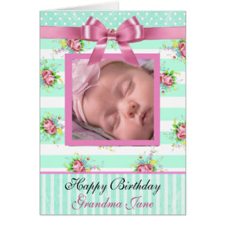 Personalized Happy Birthday Grandma Card