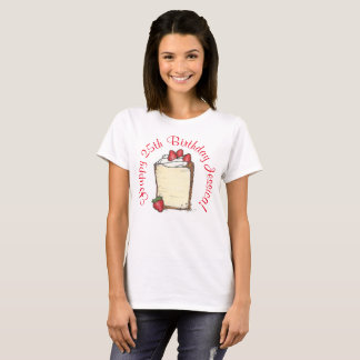 Personalized Happy Birthday Party Strawberry Cake T-Shirt