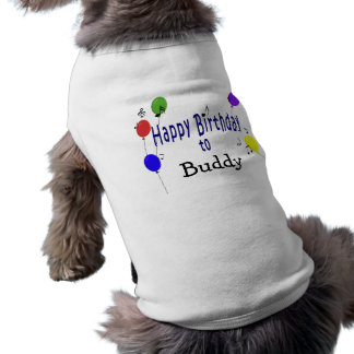 Personalized Happy Birthday to ... Song Doggie T Shirt