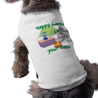 Personalized Happy Camper Sleeveless Dog Shirt