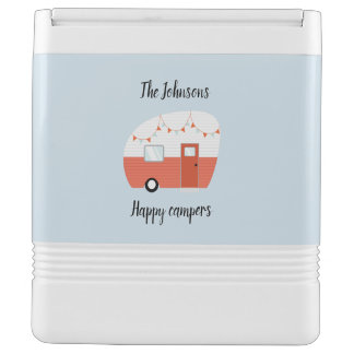 Personalized Happy Campers Cooler Ice Chest