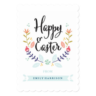 Personalized Happy Easter Card