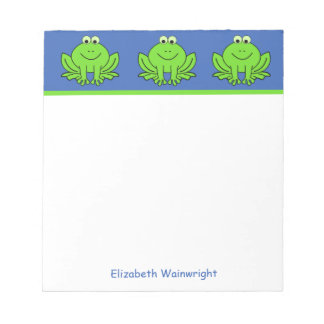 Personalized Happy Frogs Notepad