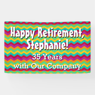 Personalized Happy Retirement Party Banner