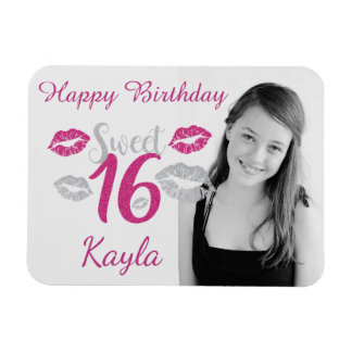 Personalized Happy Sweet 16th Birthday Magnet