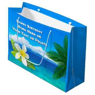 Personalized Hawaiian Gift Bags