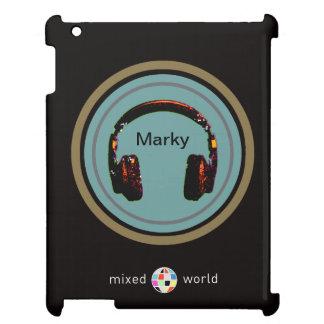 personalized headphone dj iPad cover