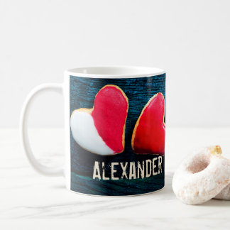 Personalized Heart Shaped Cookies Coffee Mug