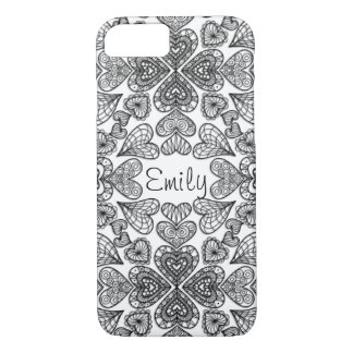 Personalized Hearts iPhone 7 Case
