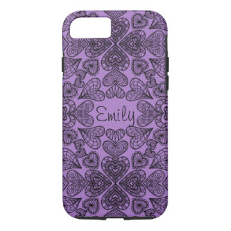 Personalized Hearts iPhone 7 Tough Case