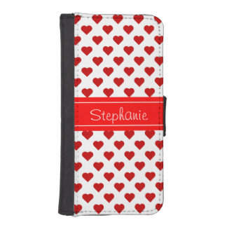 Personalized Hearts iPhone SE/5/5s Wallet Case