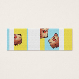 Personalized Hedgehog Book Mark Mini Business Card