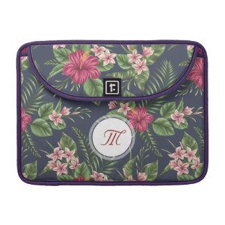 Personalized Hibiscus Flower Monogram Mac Sleeve