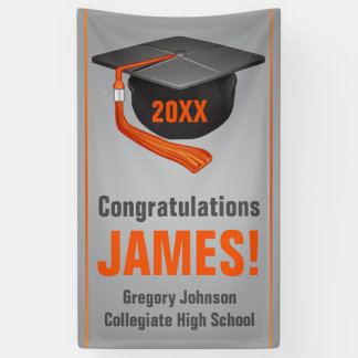 Personalized High School Graduation Banner Cap