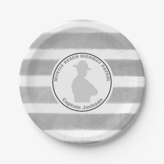 Personalized Highway Patrol Retirement Paper Plate