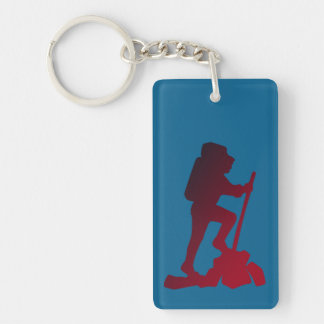 Personalized Hiking Happy Birthday Grandpa Key Ring