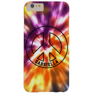 Personalized Hippy Peace Retro Tie Dye Boho Barely There iPhone 6 Plus Case