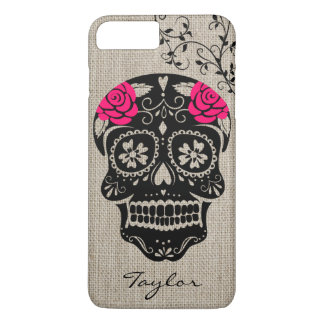 Personalized Hipster Sugar Skull iPhone 8 Plus/7 Plus Case
