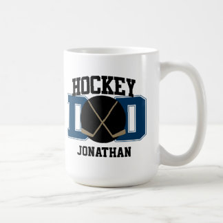 Personalized Hockey Dad (BLUE) Coffee Mug