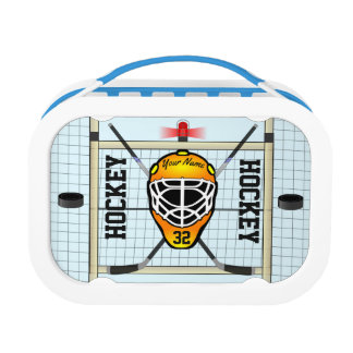 Personalized Hockey Name and Number Lunch Box