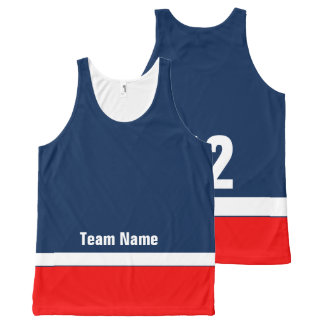 Personalized Hockey Team Colors Tank Top All-Over Print Tank Top
