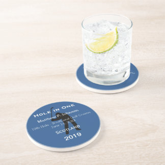 Personalized Hole In One Man Cave GOLFER'S Lodge Coasters