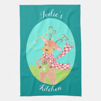 Personalized Holiday kitchen towel