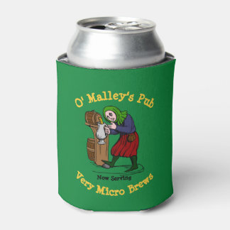 Personalized Home Brewer Pub Logo Can Cooler