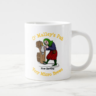 Personalized Home Brewer Pub Logo Large Coffee Mug