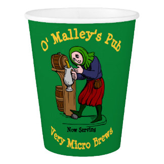 Personalized Home Brewer Pub Logo Paper Cup