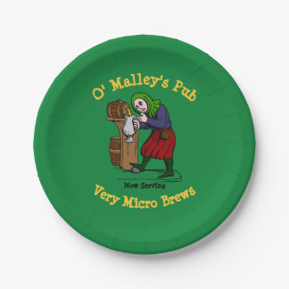 Personalized Home Brewer Pub Logo Paper Plate