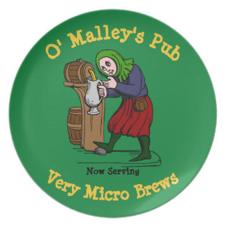 Personalized Home Brewer Pub Logo Plate