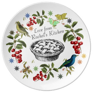 Personalized Home Chef Plate Cherries