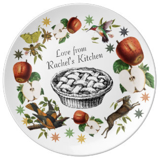 Personalized Home Chef Plate in Apples