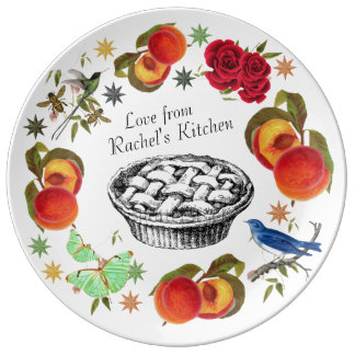 Personalized Home Chef Plate in Peaches