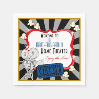 Personalized Home Theater Movie Napkins Disposable Serviette