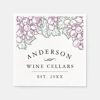 Personalized Home Wine Cellar Paper Serviettes
