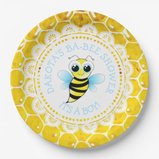 Personalized Honey an Bee Baby Shower Paper Plates