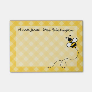 Personalized Honey Bee Post It Notes Post-it® Notes