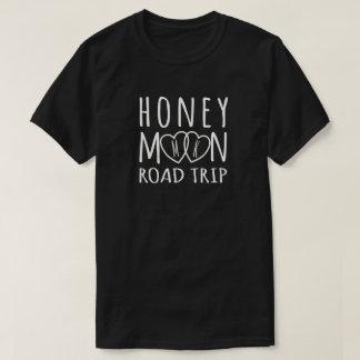 Personalized Honeymoon Road Trip | Light on Dark T-Shirt