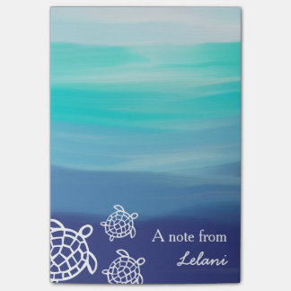 Personalized Honu Sea Turtles Ocean Beach Post-it® Notes