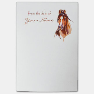 Personalized Horse Art Post-it Notes