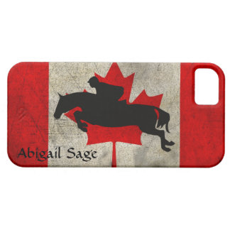 Personalized Horse Jumper Canada Flag iPhone Case