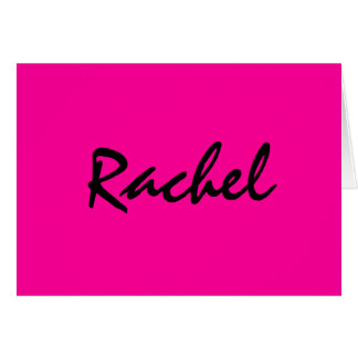 Personalized hot pink notecard