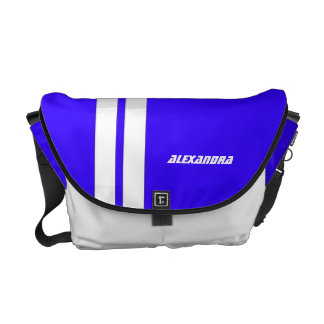 Personalized Hot Rod Blue Racing Messenger Bag