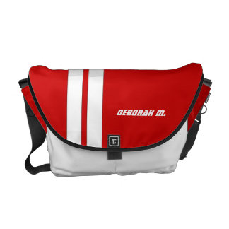 Personalized Hot Rod Red Racing Messenger Bag