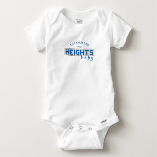 Personalized Houston Heights Blue and White Tile Baby Onesie