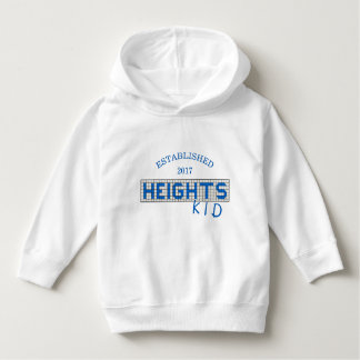 Personalized Houston Heights Blue and White Tile Hoodie